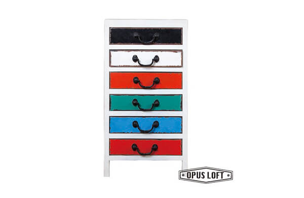 彩色型抽屜櫃