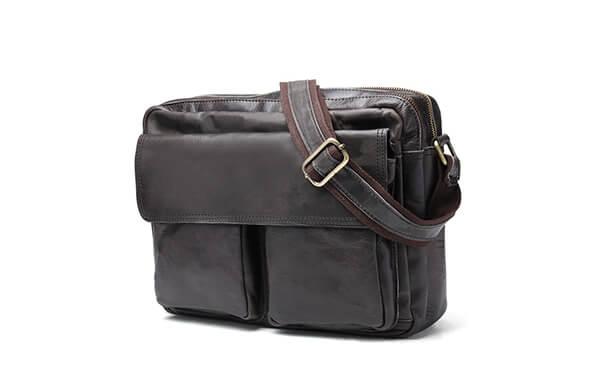 真皮側背包