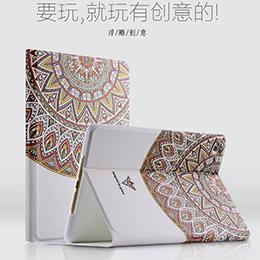 蘋果 ipad Air 2 平板保護套 彩繪立體浮雕超薄休眠皮套