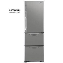 【日立HITACHI】RH41WS靜音變頻385L。三門 不鏽鋼