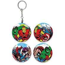 Marvel Comics經典漫畫球形拼圖鑰匙圈24片