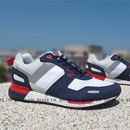 PONY EMPIRE 復古慢跑鞋 USA 白藍紅潑墨