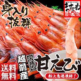 越前甜蝦500g(約30尾入)