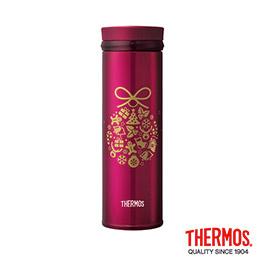 膳魔師 超輕量不鏽鋼真空保溫杯-聖誕鈴鐺0.35L