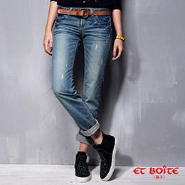 現貨│男友風刷色牛仔褲(2色,S-XL)