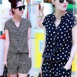 韓版休閒短袖夏裝連身褲