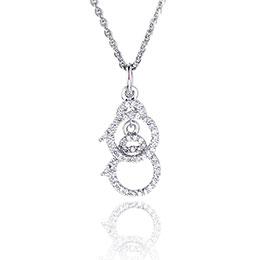 愛情手銬璀璨純銀項鍊