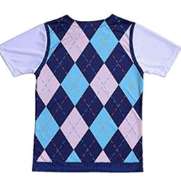 英倫菱格紋 Coolmax吸溼排汗衫