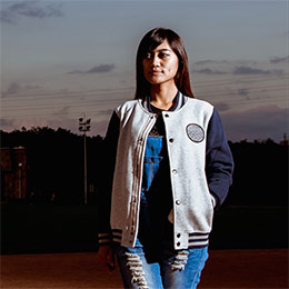 五原素中性版棒球外套