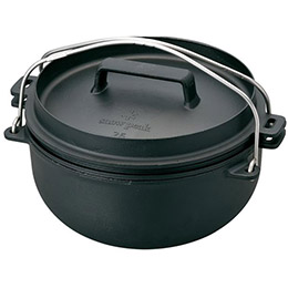 日本Snow Peak Cast Iron Oven 26cm 荷蘭鍋-三件組