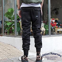 美式OUTDOOR長縮口螺紋棉褲