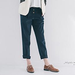 厚磅古銅排釦老爺褲