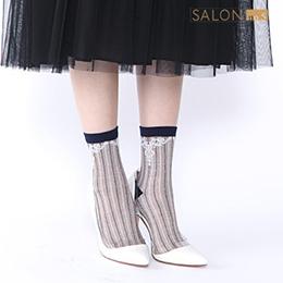 靴下屋Tabio 立體巴洛克圖騰條紋短襪