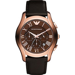 ARMANI雅痞玫瑰金腕錶44.5mm