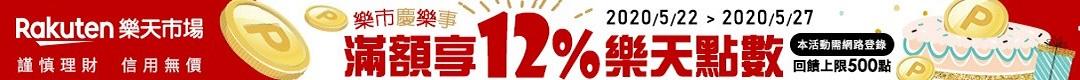 樂天信用卡 享12%刷卡金回饋