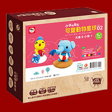 3Q超輕黏土-小手玩黏土/可愛動物星球02(2款黏土教學+9色超輕黏土+炫彩工具四件組)