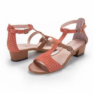 個性時尚動物紋低跟涼鞋