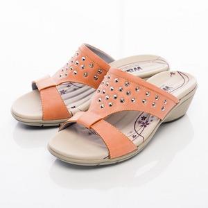 圓錐鉚釘造型淑女拖鞋