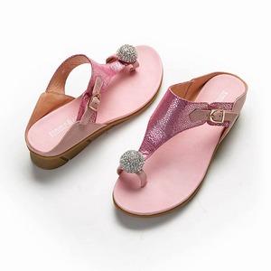 國民時尚催燦水鑽寶石夾腳拖鞋