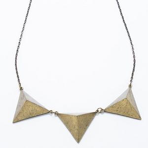 立體三角造型長項鍊