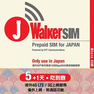 日本5+1天上網SIM卡