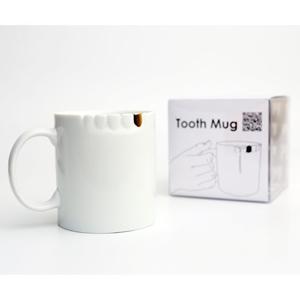 金牙齒 馬克杯 白