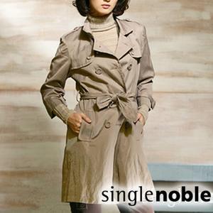 都會時尚雙排釦風衣式外套