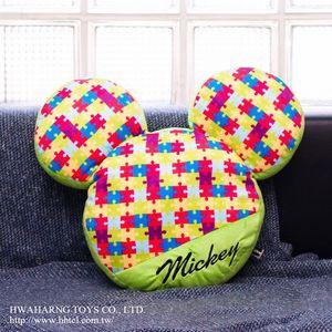 Disney 90th紀念版 拼圖米奇造型抱枕