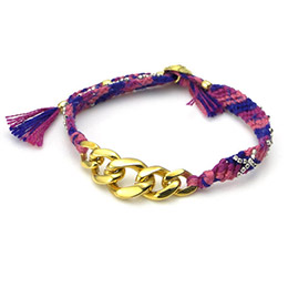 【amp japan】漸層紫幸運編織手環