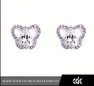 漫蝶之舞 純銀水晶耳環