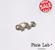 Accessory Kitchen『925純銀』鑲鑽葉片排列單邊耳環