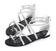 水鑽交叉套趾繫踝涼鞋