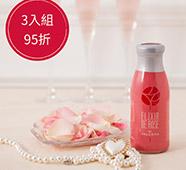 保加利亞大馬士革玫瑰蒸餾飲 250ml(3入組)