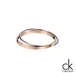 CK經典雙環/玫瑰金X銀色