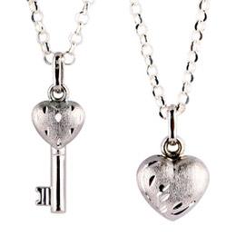 14白k 心鎖-心鑰對鍊