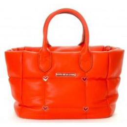 時尚格紋3way包-橘色