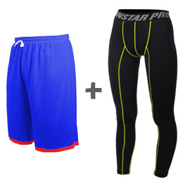 INSTAR 雙面籃球褲+PRO 緊身長褲 組合包