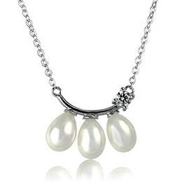 永恆之戀純銀珍珠項鍊
