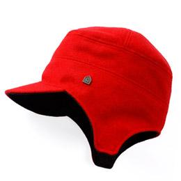 飛行帽/毛料紅配深灰色款