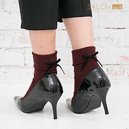 靴下屋Tabio 絲帶蝴蝶結百搭短襪