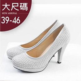 滿版鑲鑽質感高跟鞋