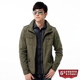 5th STREET立領軍裝平織外套