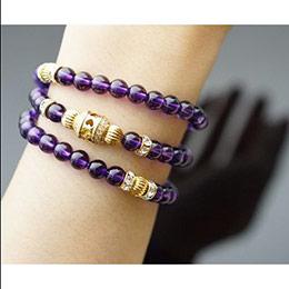 開運祈福 天然紫水晶 長手鍊