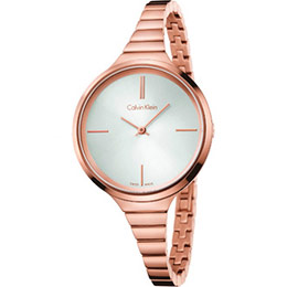 CK玫瑰金藝術時尚腕錶