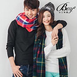格紋圍巾大方巾