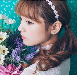 「春天中的少女」粉色小花髮箍