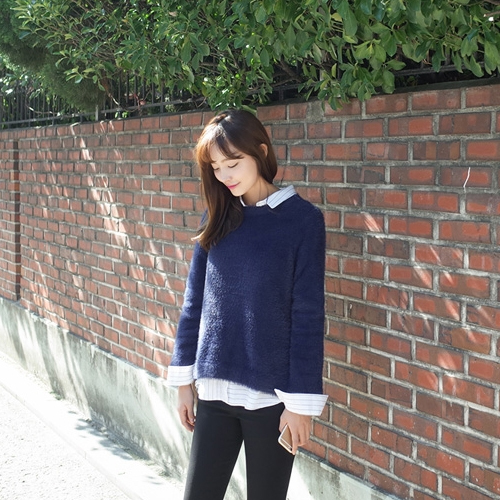 秋季簡約保暖毛衣