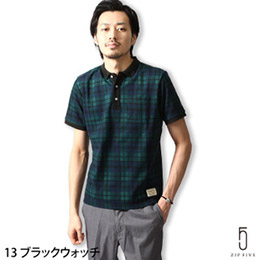 日本ZIP 短袖POLO衫 格紋