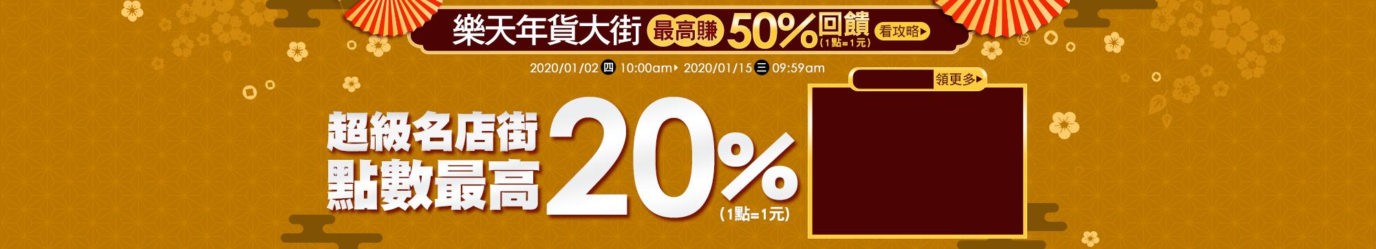 樂天年貨大街:年度最夯品牌商品,最高再賺20%點數