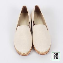 日系造型素面懶人鞋(奶油米)